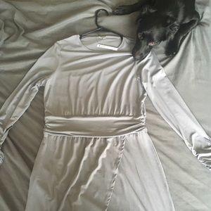 Gray sleek dress